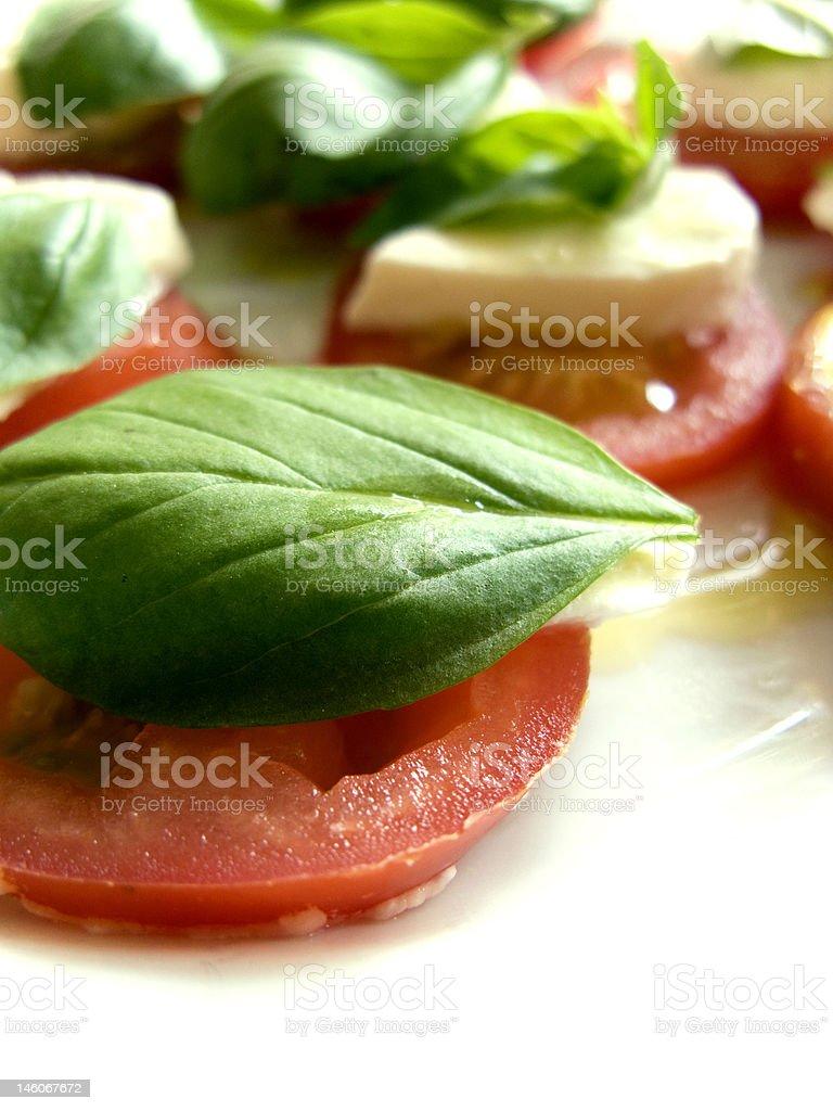 Tomato Basil Mozarella Caprese Salad royalty-free stock photo
