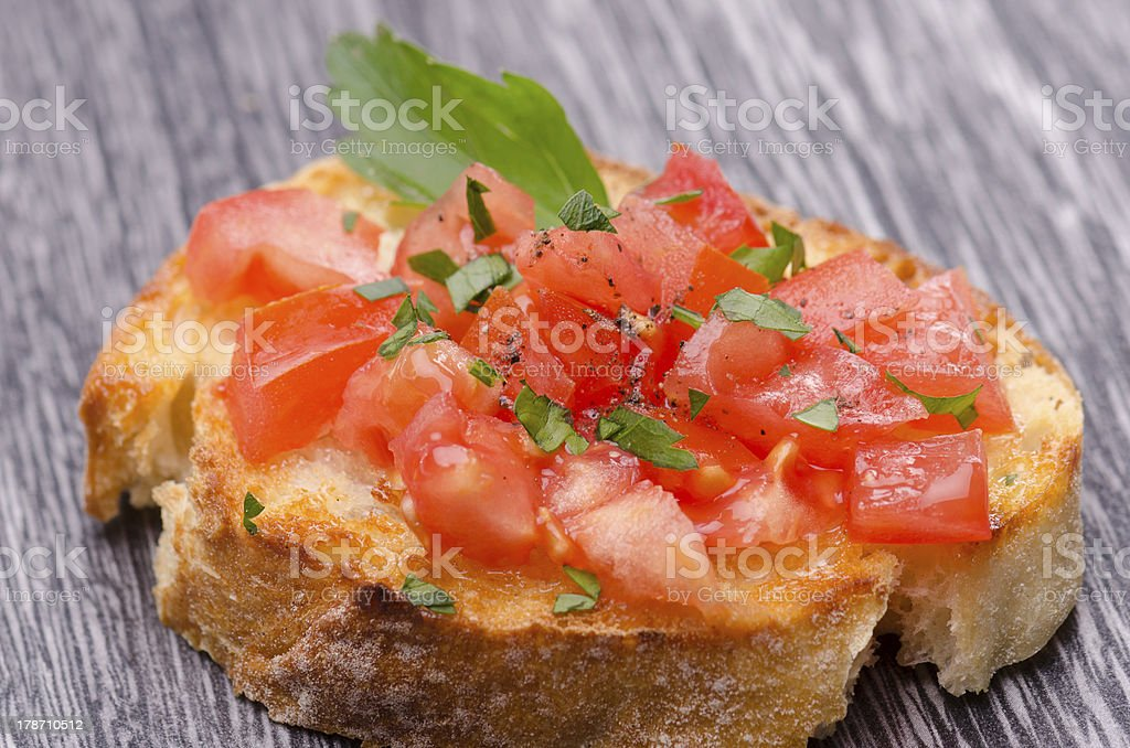 Tomato Bruschetta royalty-free stock photo