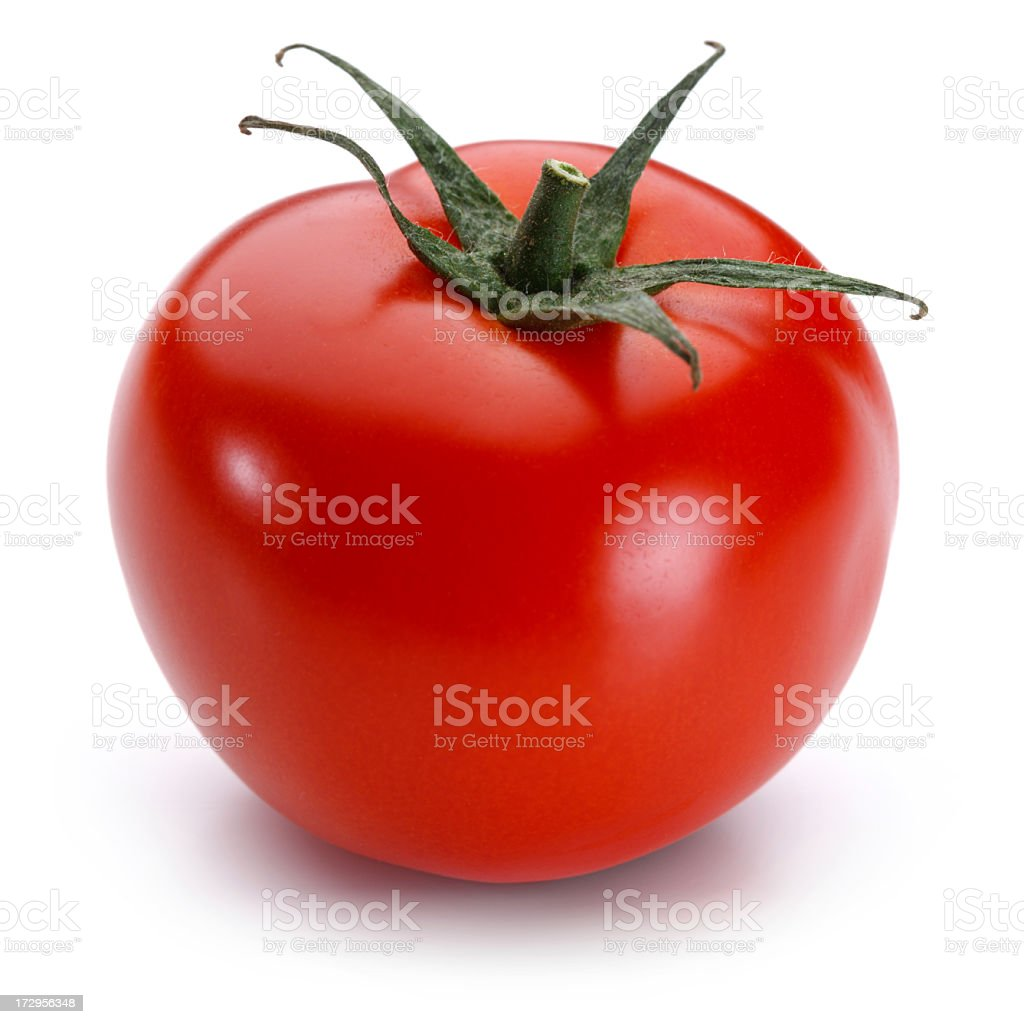 Tomato + Clipping Path stock photo