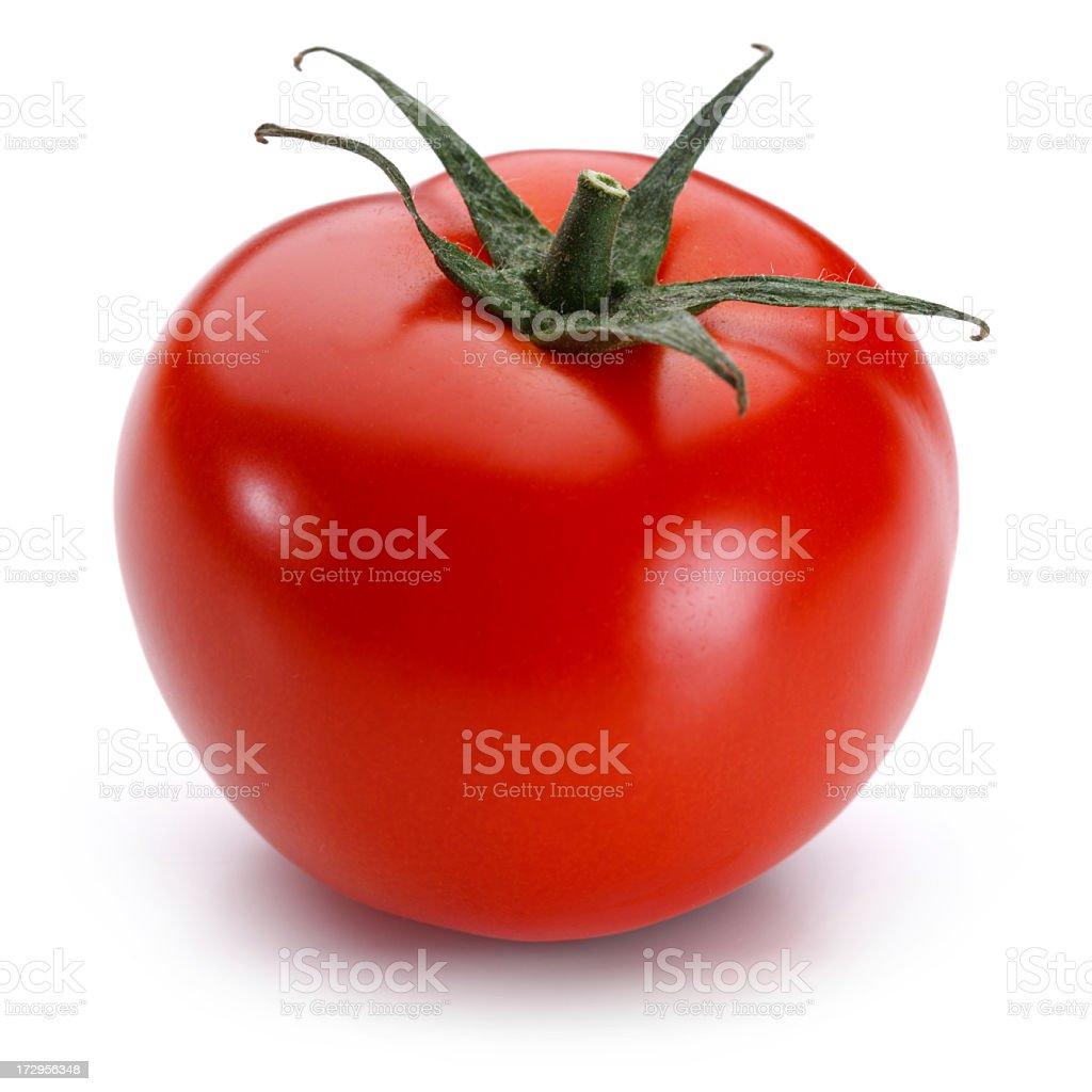 Tomato + Clipping Path stock photo