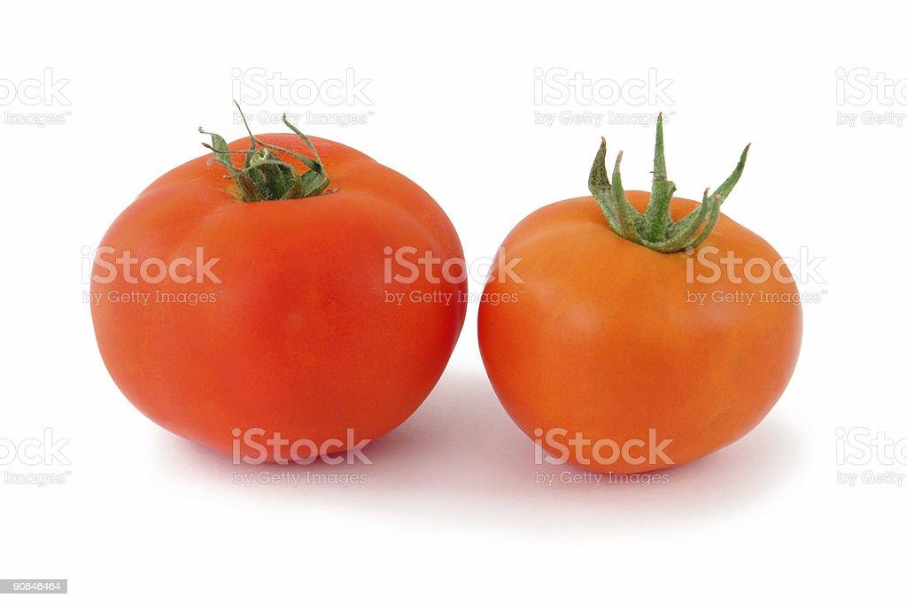 Tomato couple stock photo