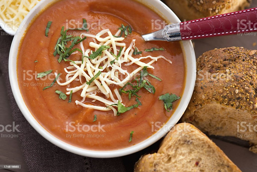 Tomato creme soup royalty-free stock photo