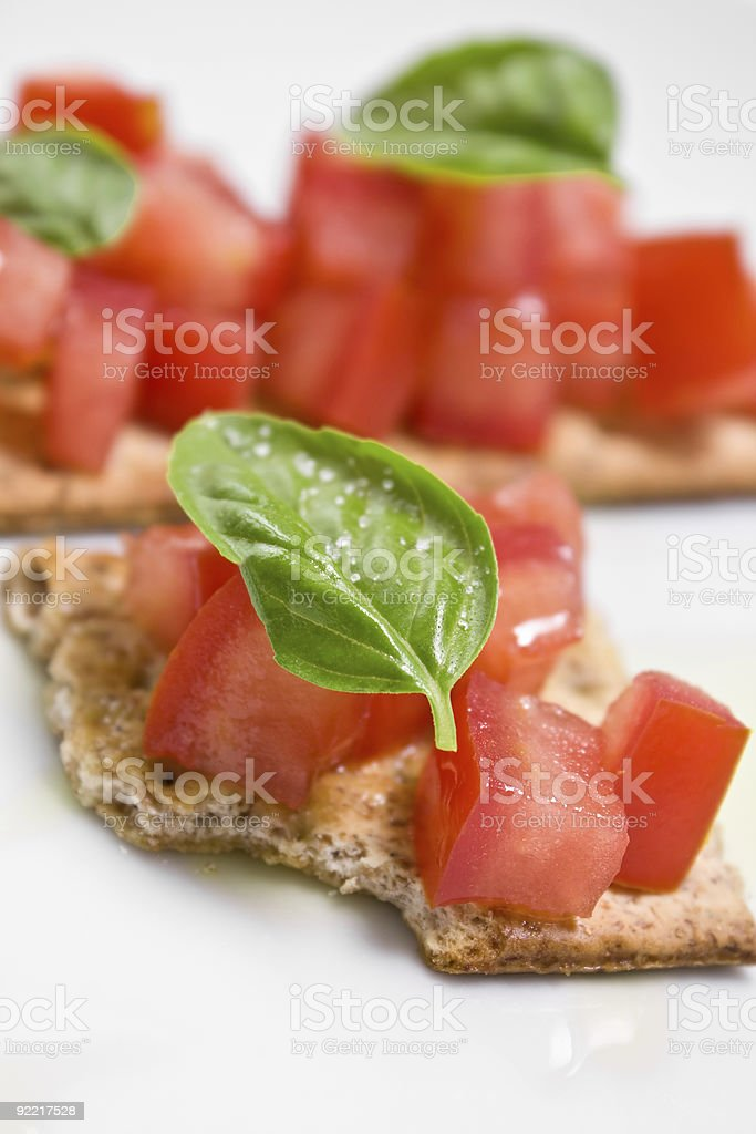 Tomato crostini royalty-free stock photo