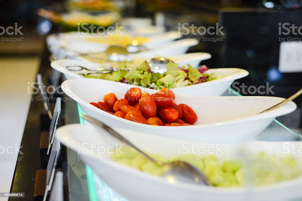 Tomato in buffet party stock photo