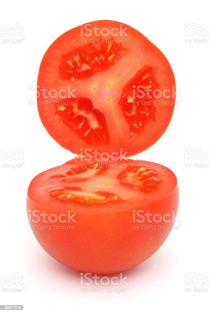 Tomato interior royalty-free stock photo