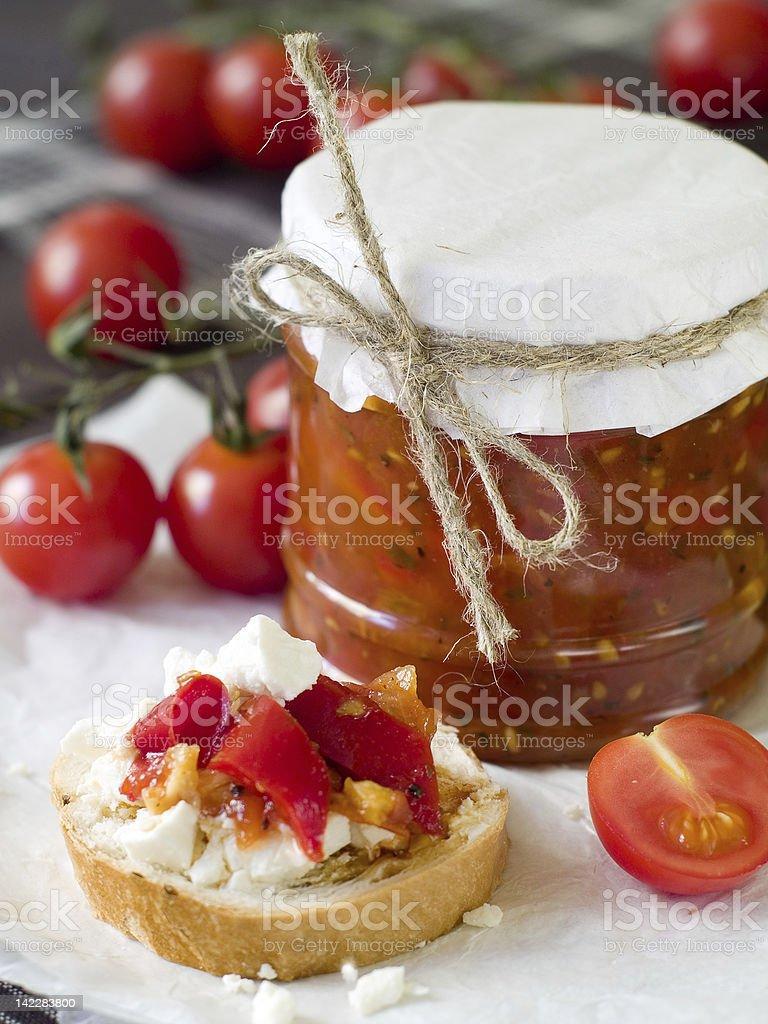 tomato jam royalty-free stock photo