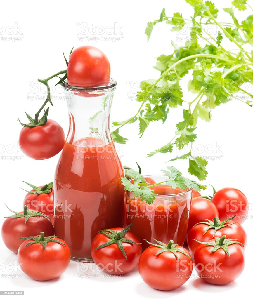 tomato juice and tomatoes royalty-free stock photo