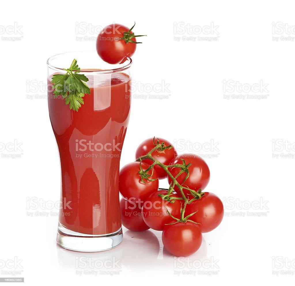 Tomato juice  isolated on white background royalty-free stock photo