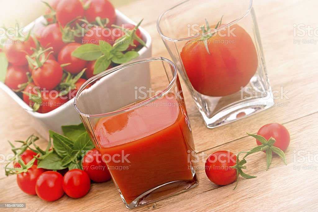Tomato juice (healthy drink) royalty-free stock photo
