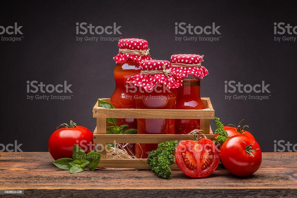 Tomato juice stock photo