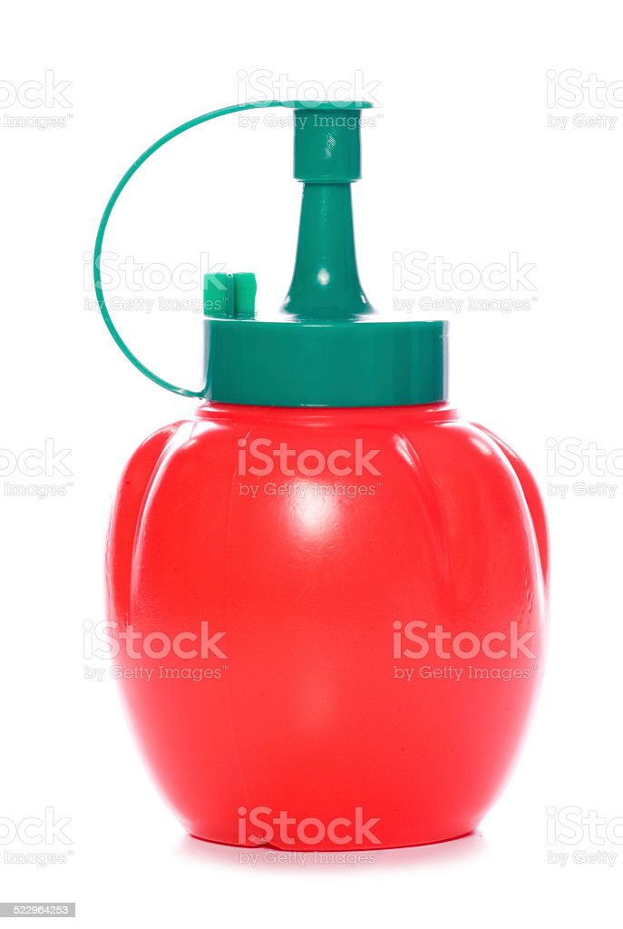 tomato ketchup bottle stock photo