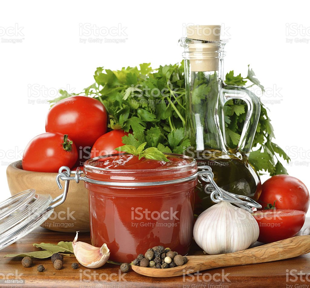 tomato ketchup royalty-free stock photo