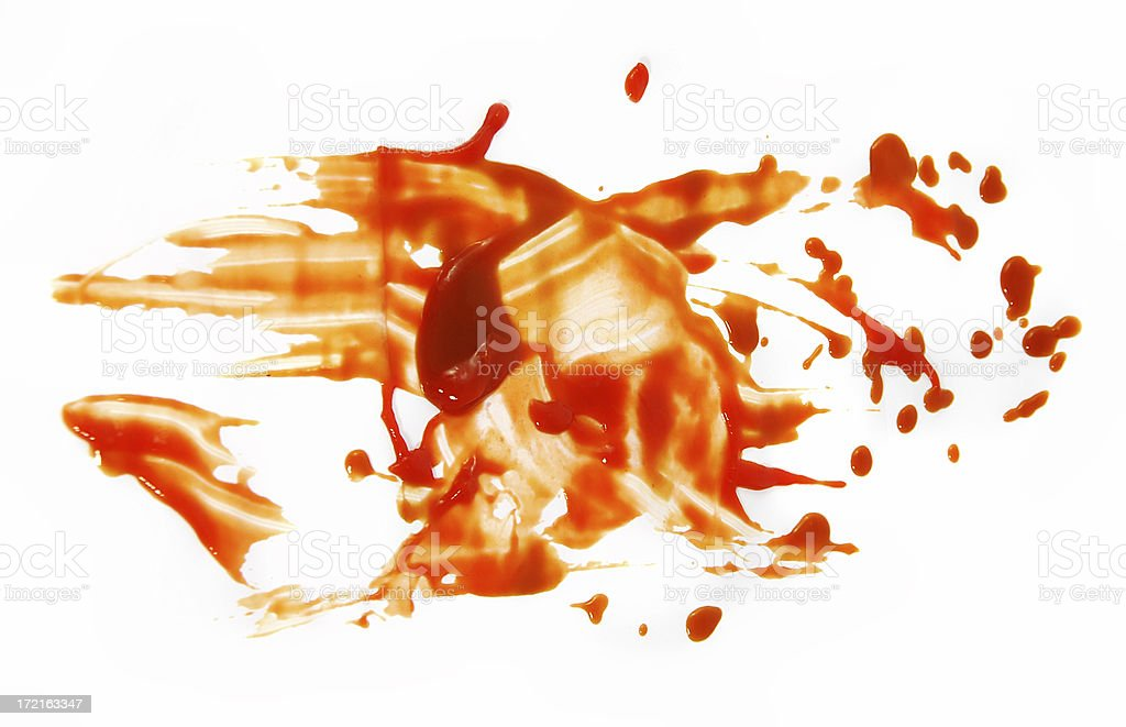 Tomato ketchup smeared grunge background stock photo