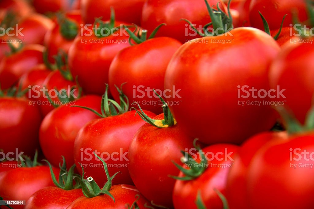 Tomato, Large Group of Objects, Bunch, Market, Freshness stock photo