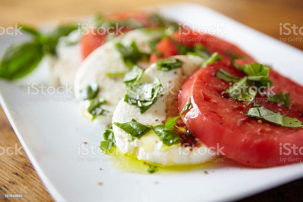Tomato Mozzarella salad stock photo