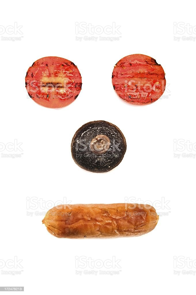 Tomato, Mushroom and Sausage Face royalty-free stock photo
