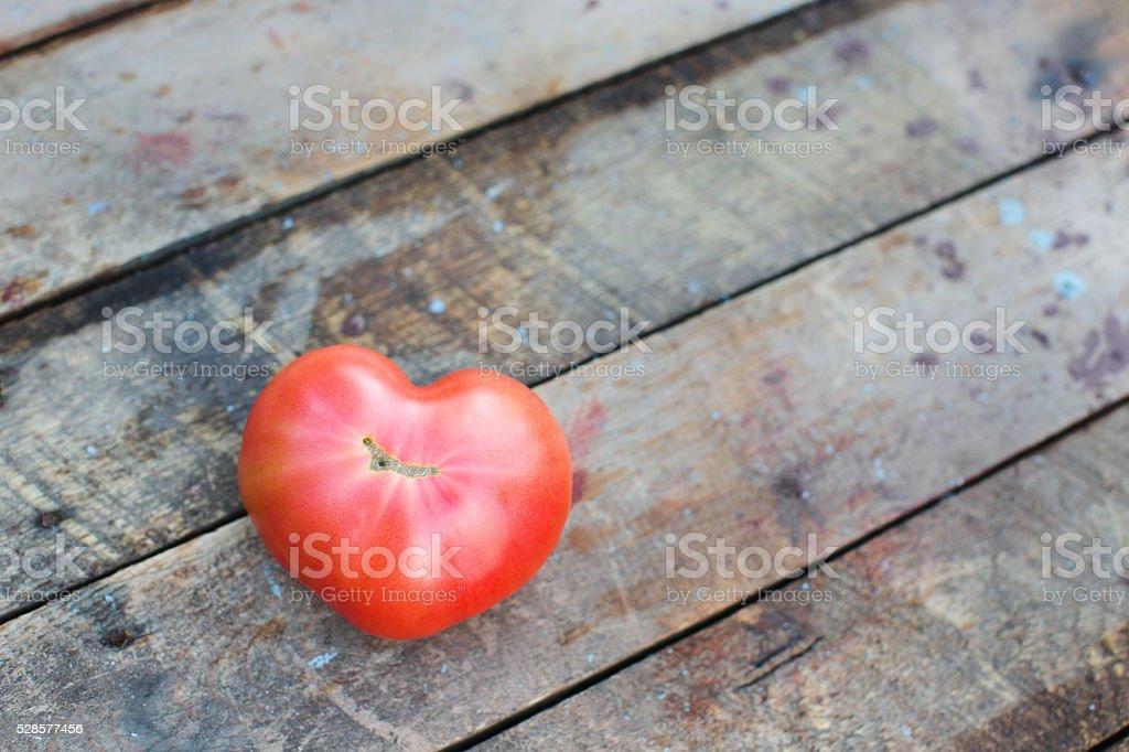 Tomato of heart stock photo