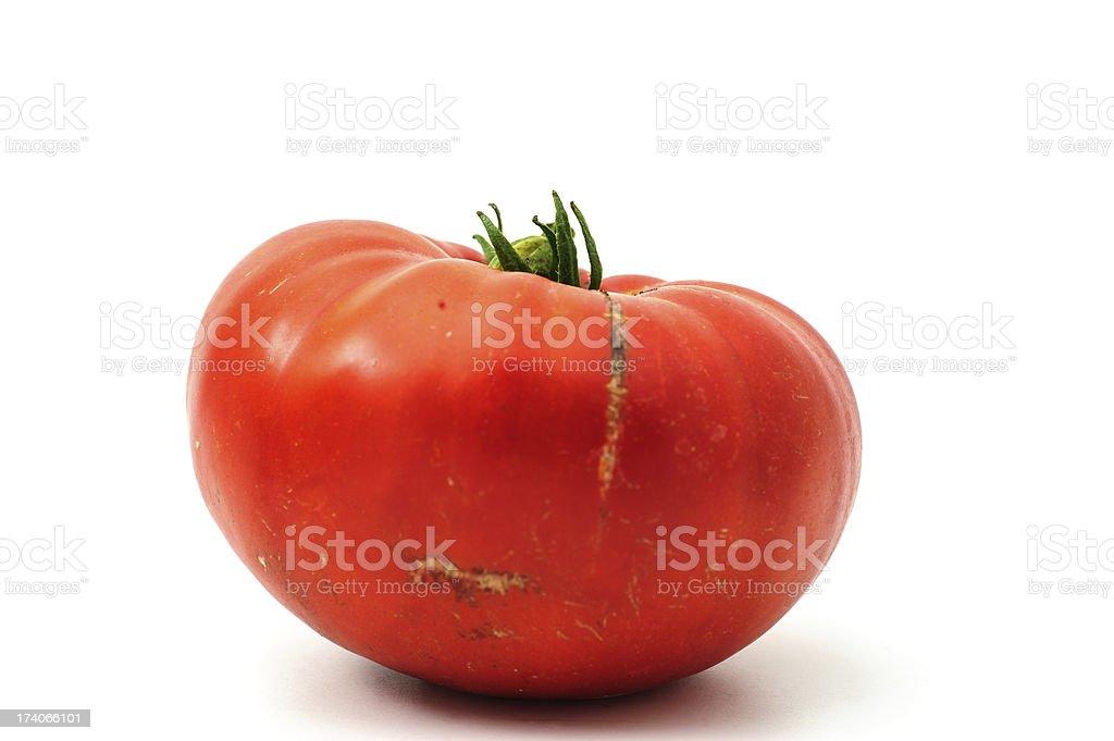 Tomato on white stock photo