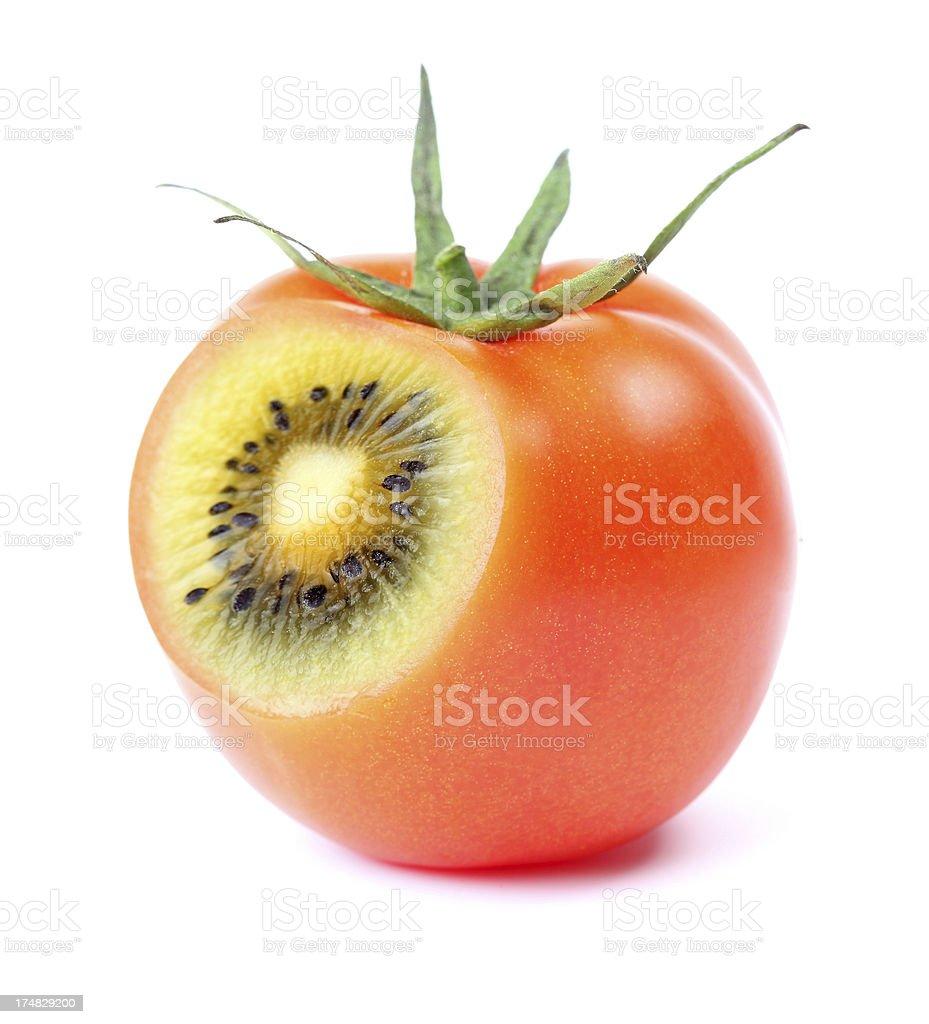 tomato or kiwi royalty-free stock photo