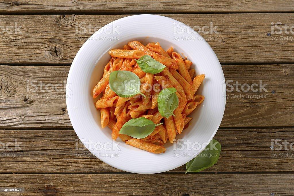 tomato penne stock photo