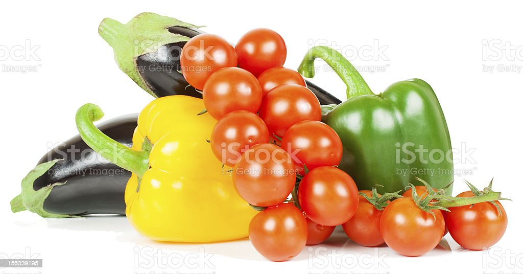 tomato,  pepper and  eggplant royalty-free stock photo
