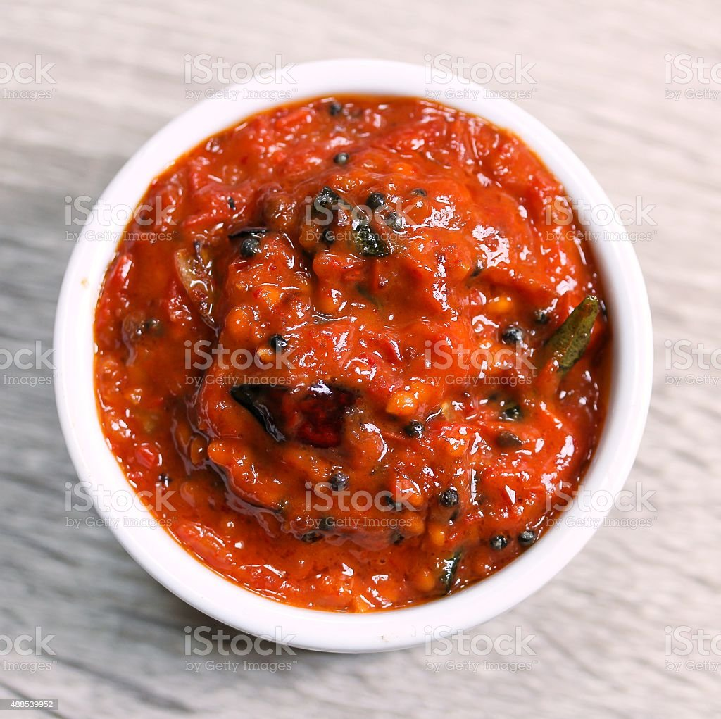 Tomato Pickle - Chutney stock photo
