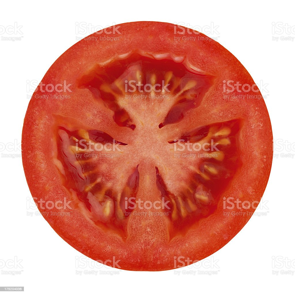 Tomato portion on white stock photo