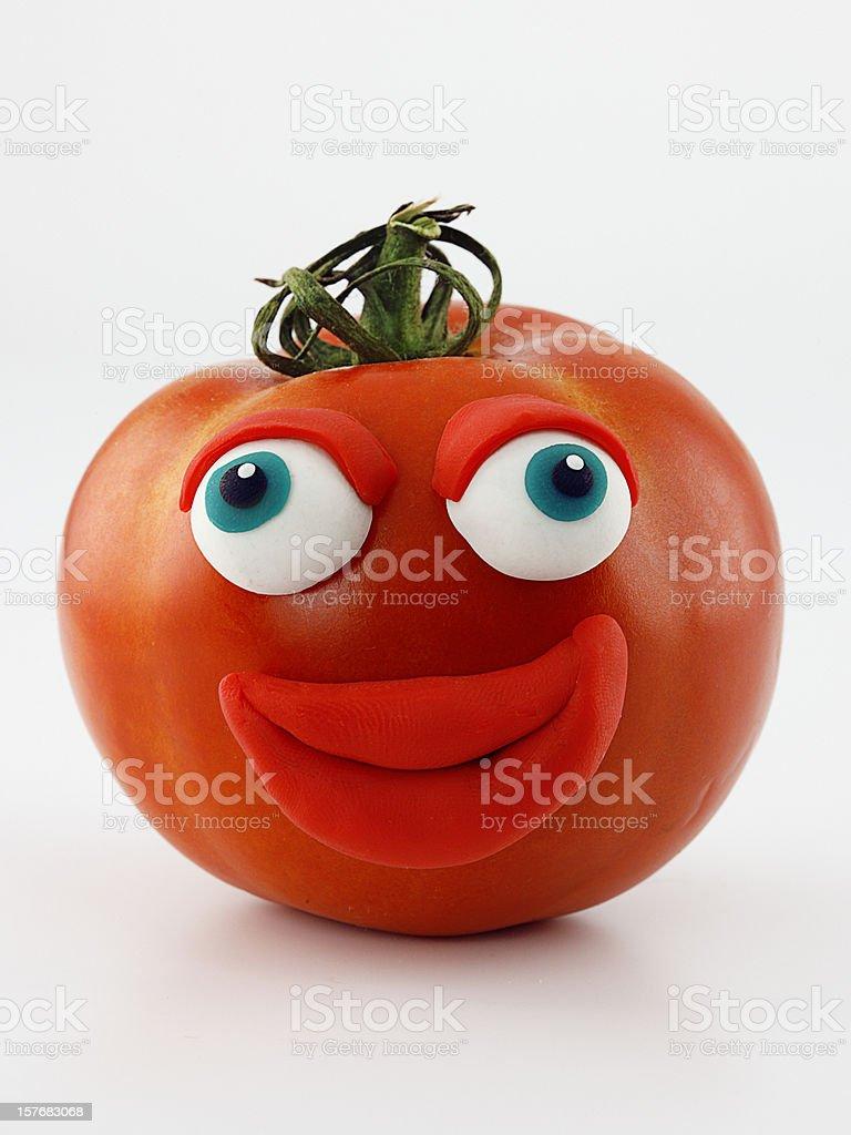 Tomato portrait royalty-free stock photo