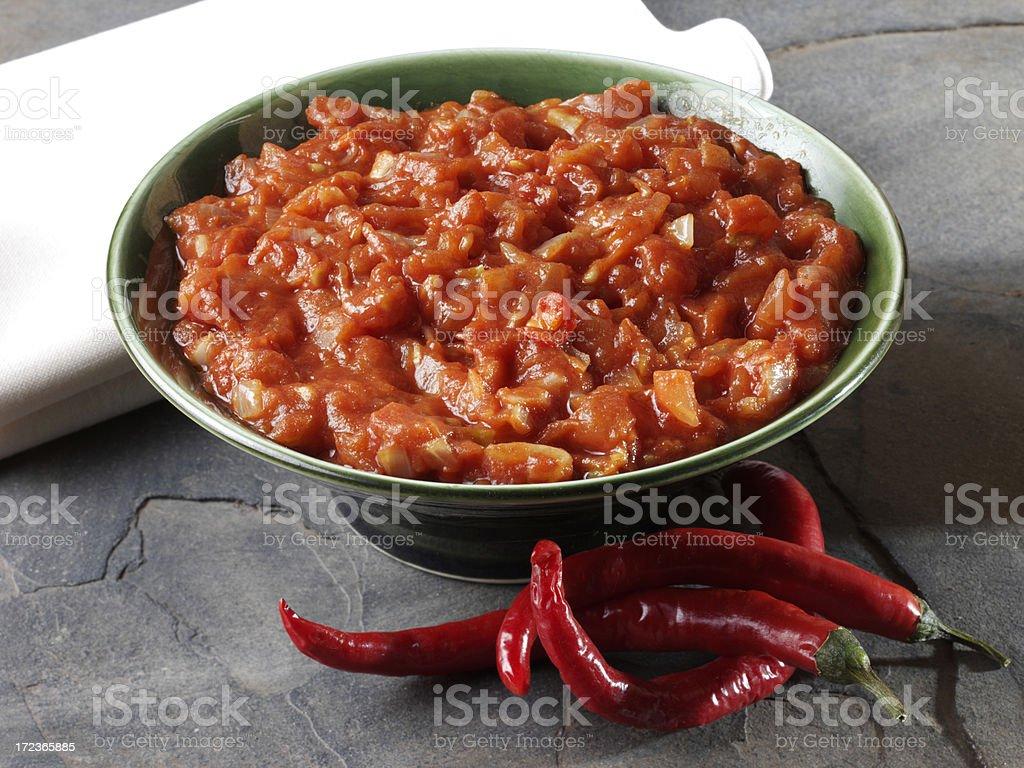 Tomato Relish stock photo