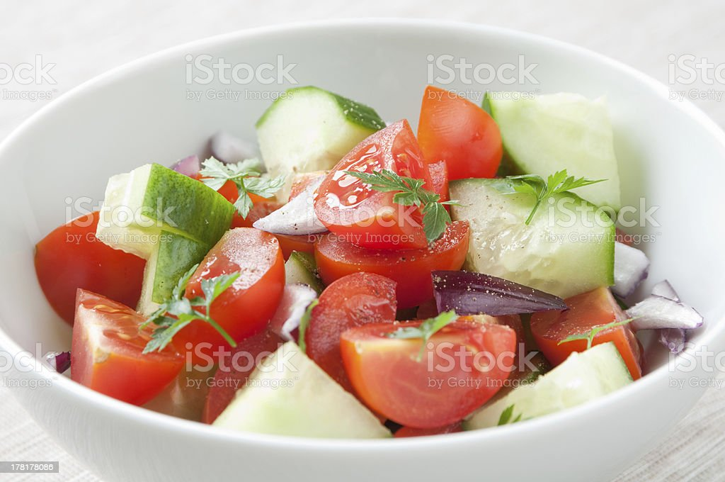 Tomato Salad stock photo