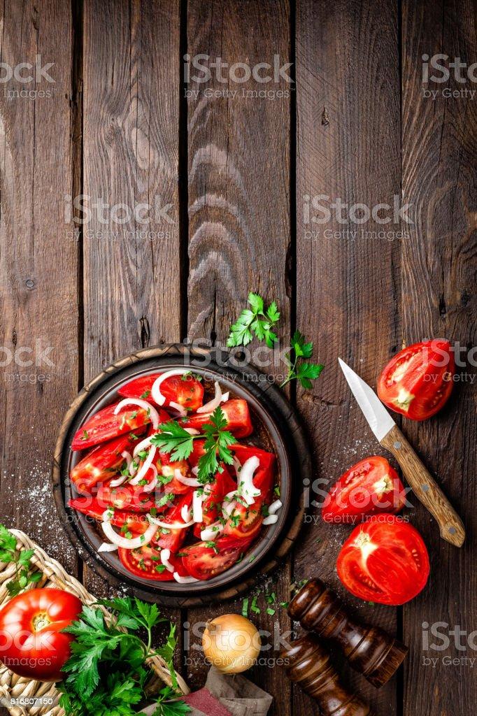 Tomato salad stock photo