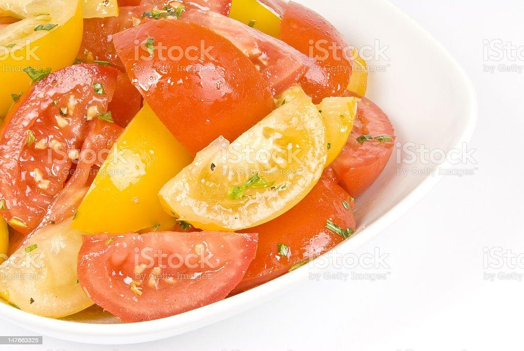 Tomato Salad with Tarragon royalty-free stock photo