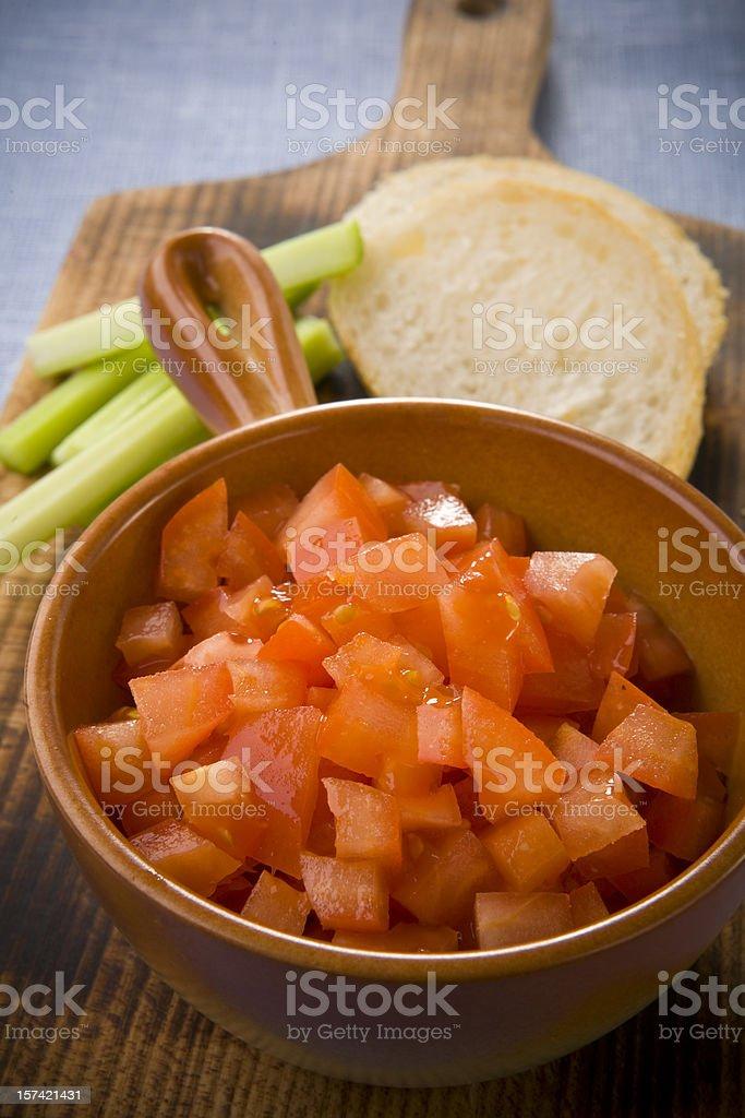 Tomato salsa royalty-free stock photo