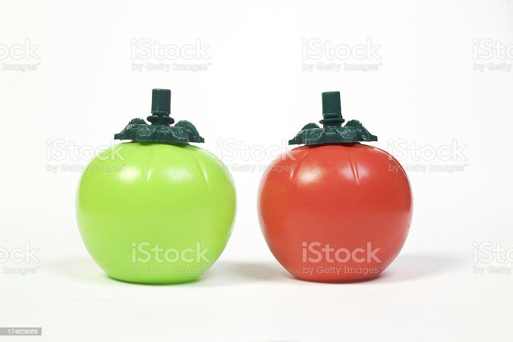 Tomato sauce bottles stock photo
