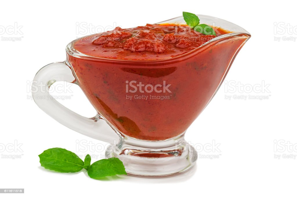 tomato sauce on white stock photo