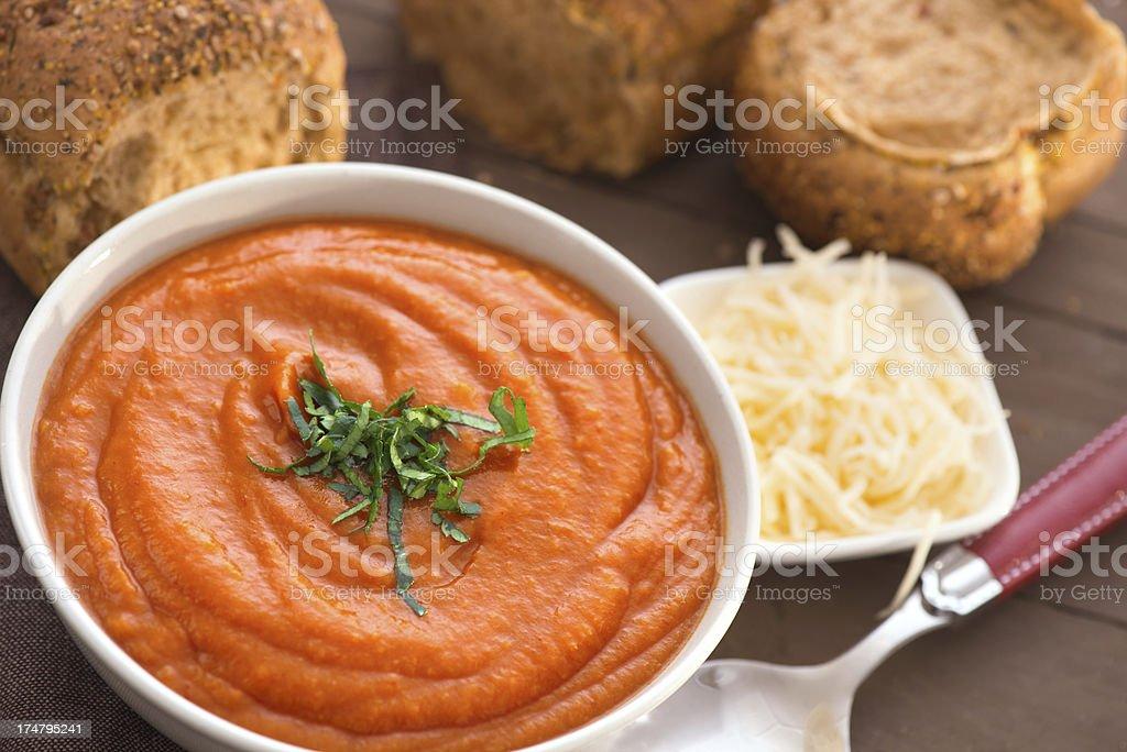Tomato sauce - soup royalty-free stock photo