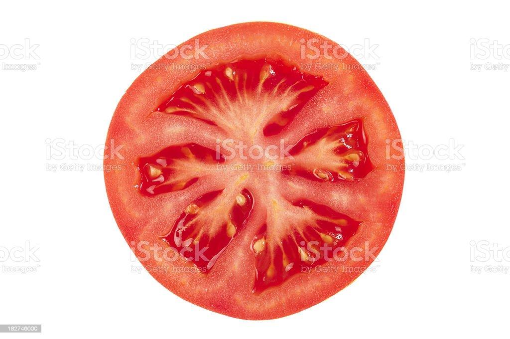 Tomato slice stock photo