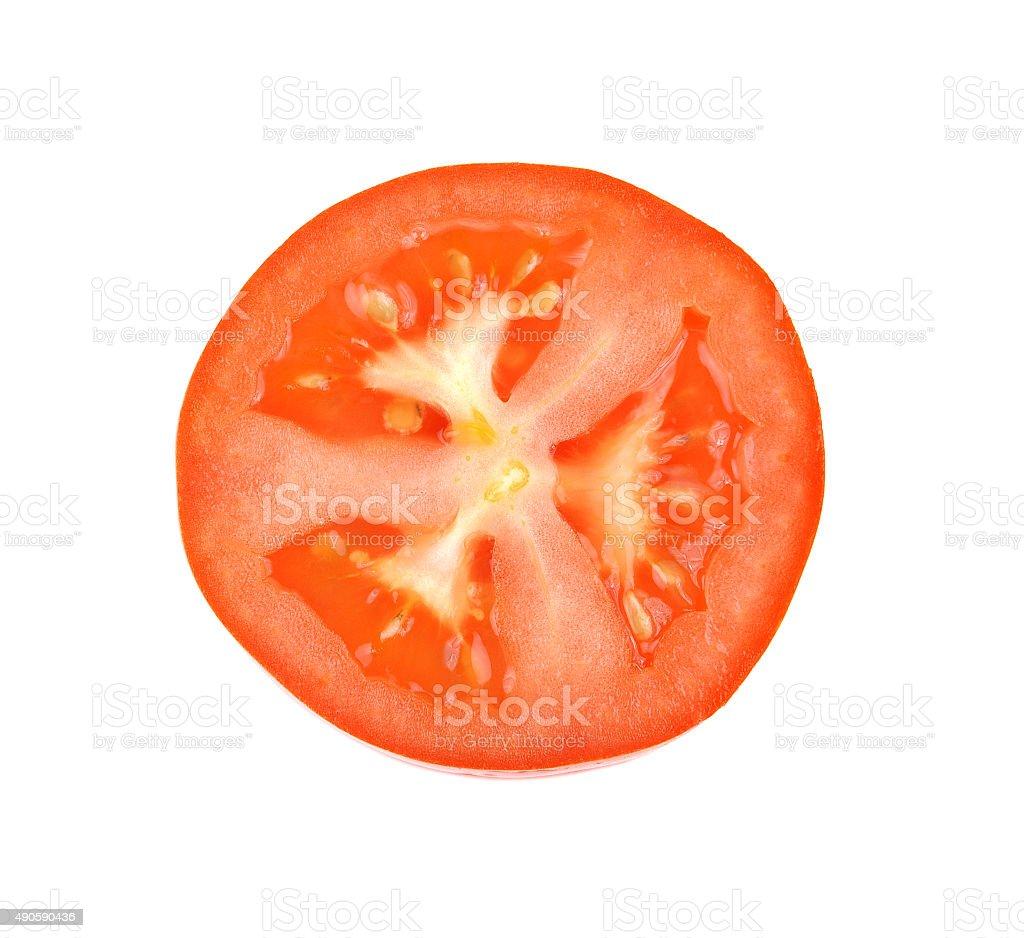 Na białym tle plasterki pomidora zbiór zdjęć royalty-free