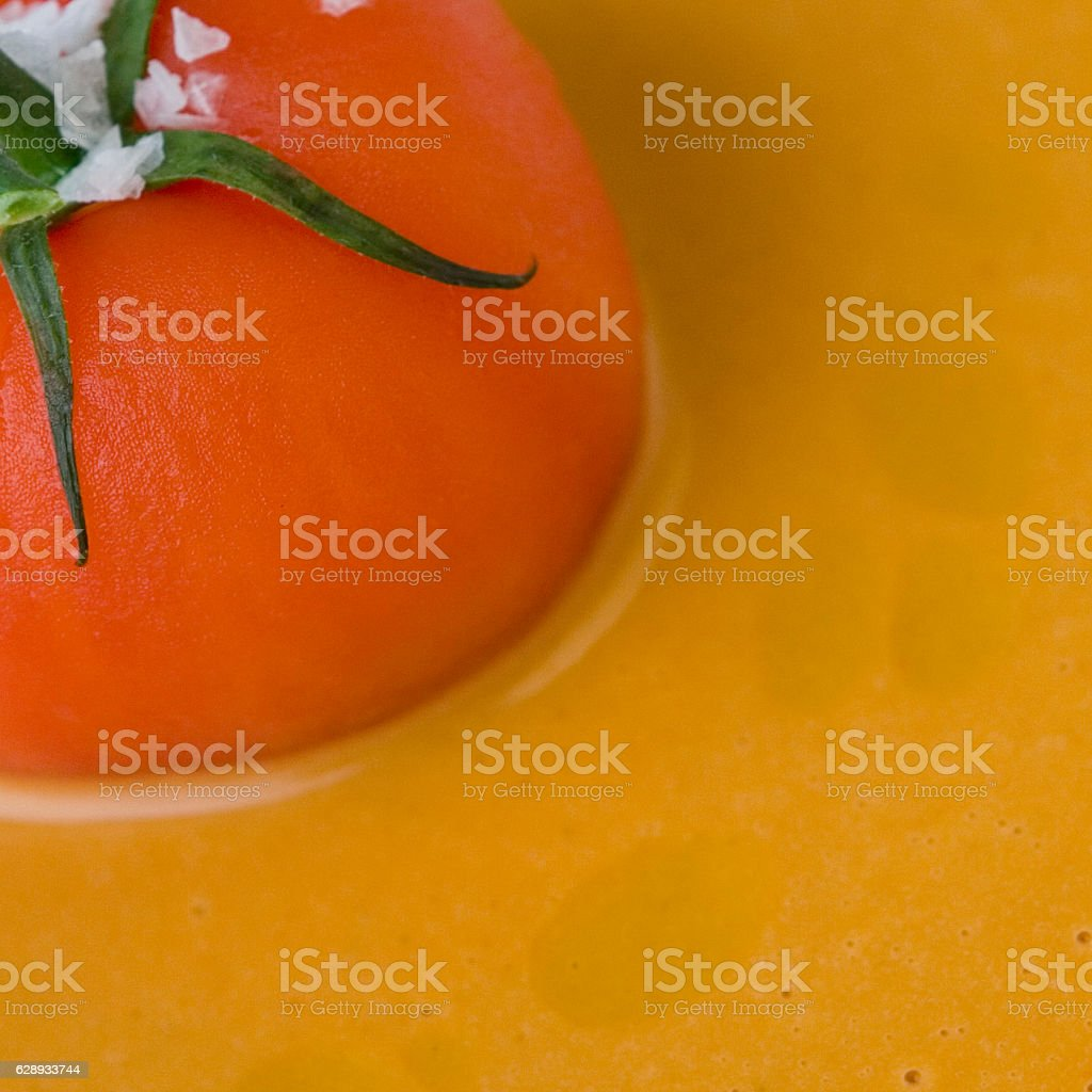Tomato Soup closeup stock photo