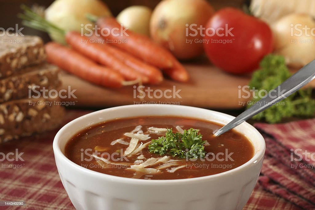 Tomato soup royalty-free stock photo