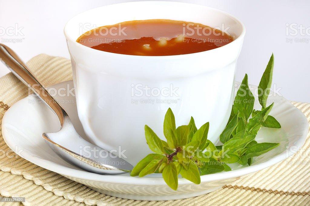Sopa de tomate foto royalty-free