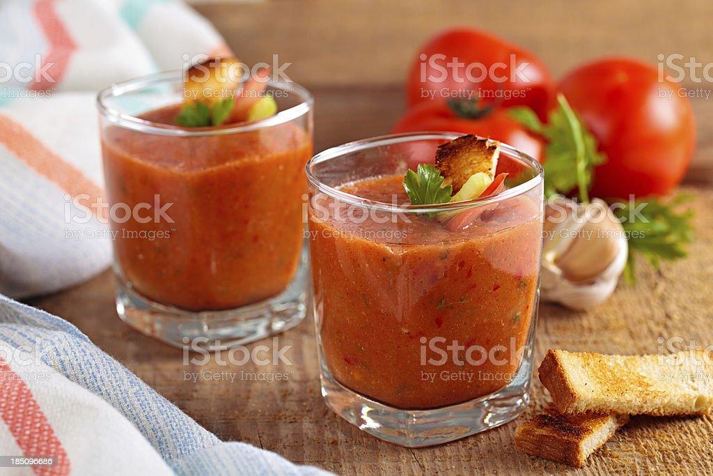 Tomato soup. stock photo