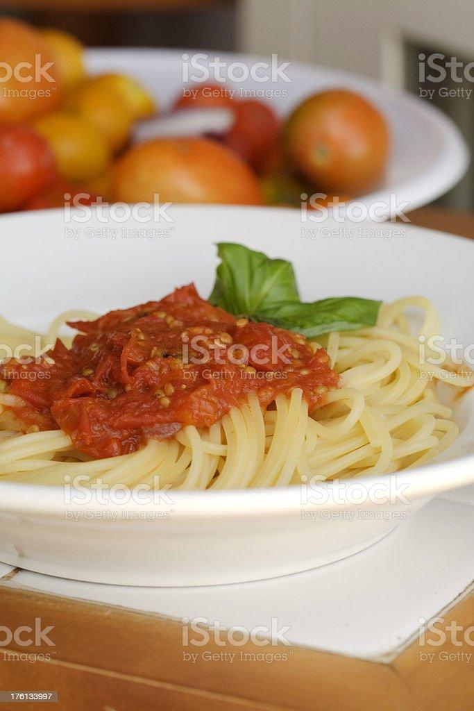 Tomato Spaghetti stock photo