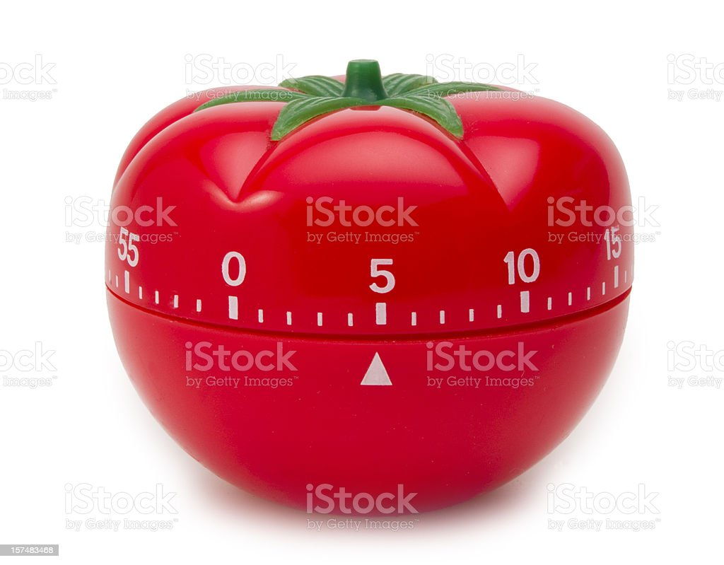 Tomato Timer Clock stock photo