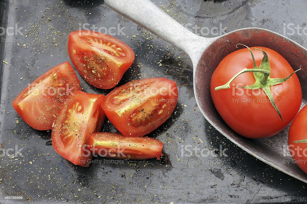tomato vintage style dark background royalty-free stock photo