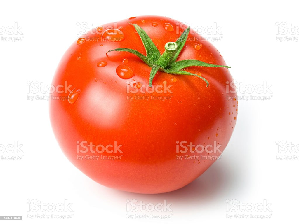 tomato w clipping path stock photo