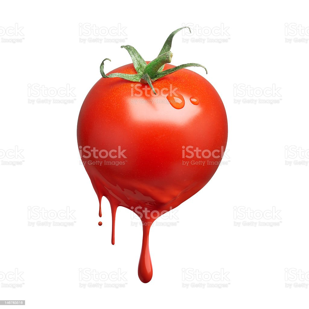 A tomato with artificial colors royalty-free stock photo