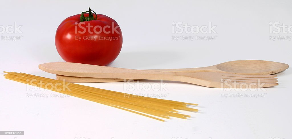 Tomato with pasta royalty-free stock photo