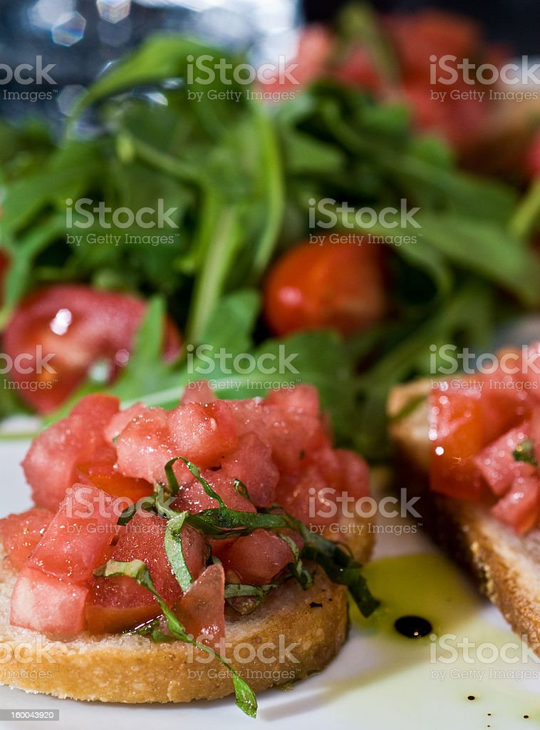 Tomato-basil bruschetta royalty-free stock photo