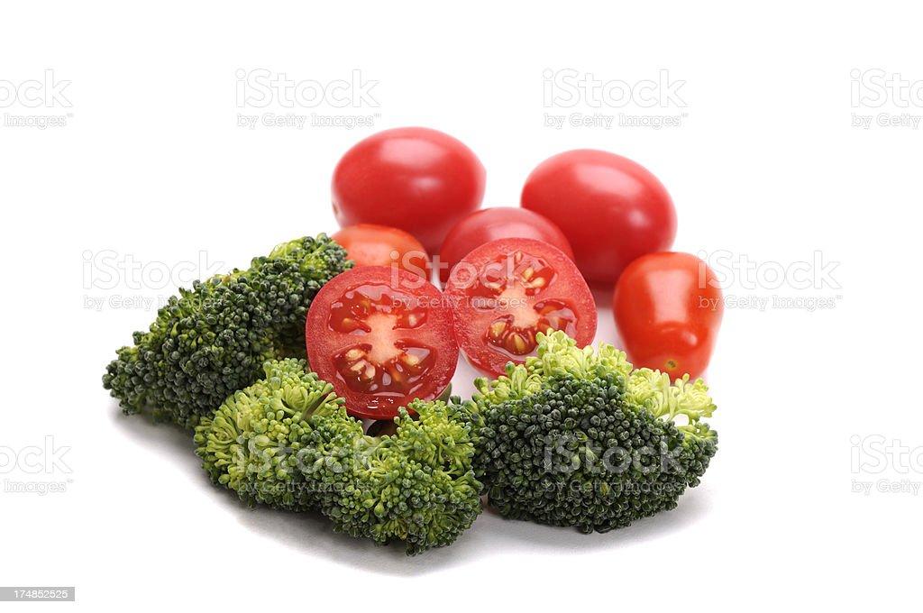 Tomatoes & Broccoli royalty-free stock photo
